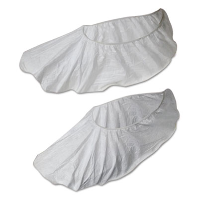 Disposable Shoe Covers, White, X-Large, 50 Pair/Pack