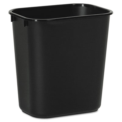 Soft-Sided Wastebasket, 14qt, Plastic, Black
