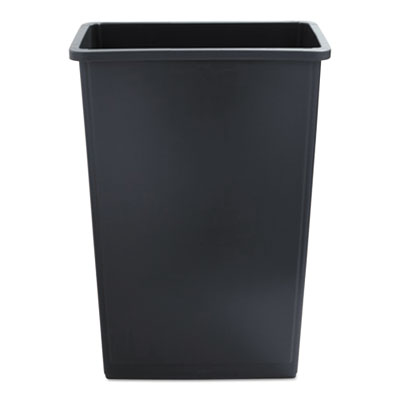 Slim Jim Waste Container, 23 Gal, Gray, Plastic