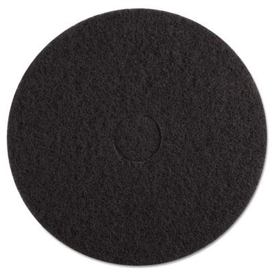 "Standard Floor Pads, 17"" Diameter, Black, 5/Carton"