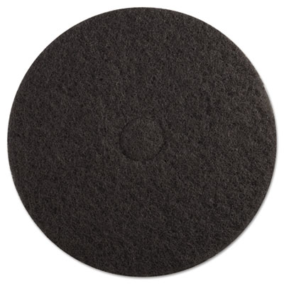 "Standard Floor Pads, 19"" Diameter, Black, 5/Carton"