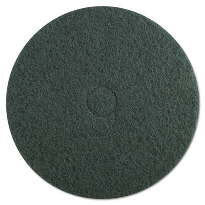 "Standard Floor Pads, 20"" Diameter, Green, 5/Carton"