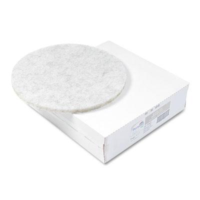"Ultra High-Speed Floor Pads, Natural Hair/Polyester, 20"" Diameter, 5/Carton"