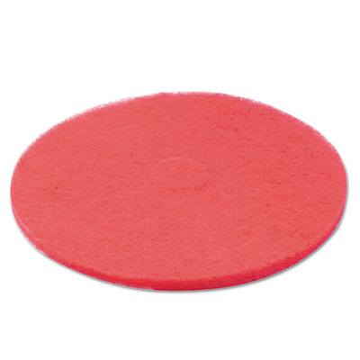 "Standard Floor Pads, 20"" Diameter, Red, 5/Carton"