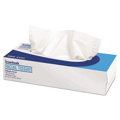 Office Packs Facial Tissue, 2-Ply, White, Flat Box, 100 Sheets/Box, 30 Boxes/Carton