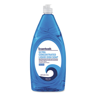 Ultra Concentrated Liquid Dish Soap, Clean, 40 oz