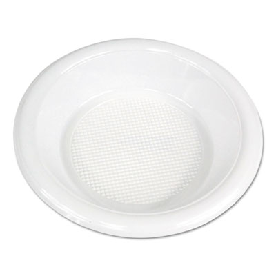 Hi-Impact Plastic Dinnerware, Bowl, 10-12 oz, White, 1000/Carton