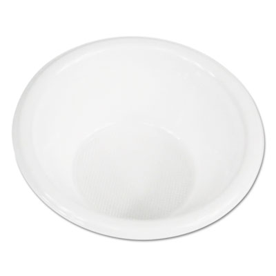 Hi-Impact Plastic Dinnerware, Bowl, 5-6 oz, White, 1000/Carton