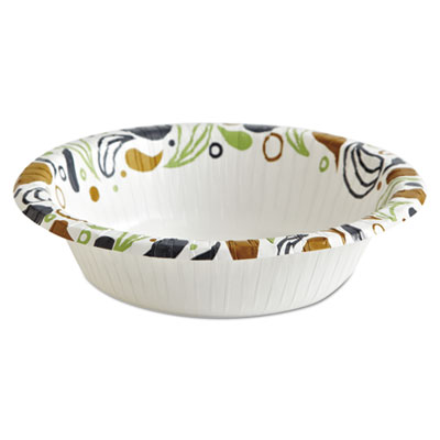 Deerfield Printed Paper Bowl, 12 oz, 50 Bowls/Pack, 20 Packs/Carton