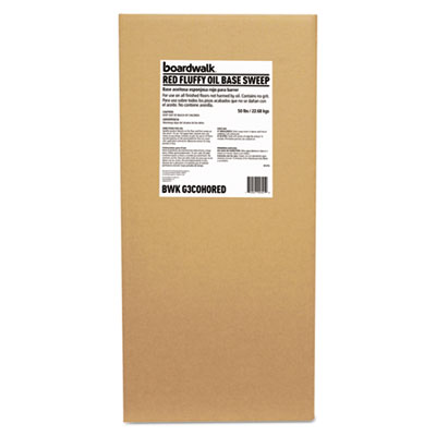 Oil-Based Sweeping Compound, Grit-Free, Red, 50lbs, Box