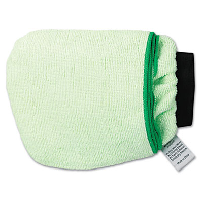 Grip-N-Flip 10 Sided Microfiber Mitt, 7 x 6, Green