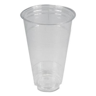 Clear Plastic Cold Cups, 24 oz, PET, 600/Carton
