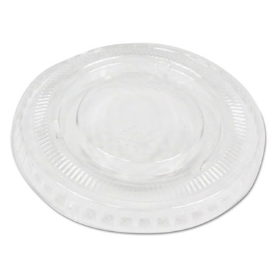 Souffl�/Portion Cup Lids, Fits 2 oz Portion Cups, Clear, 2500/Carton