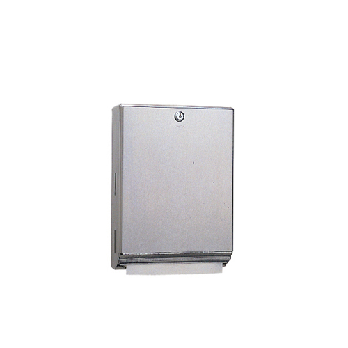 Surface-Mounted Paper Towel Dispenser, 10 3/4 x 4 x 14, Satin Stainless Steel