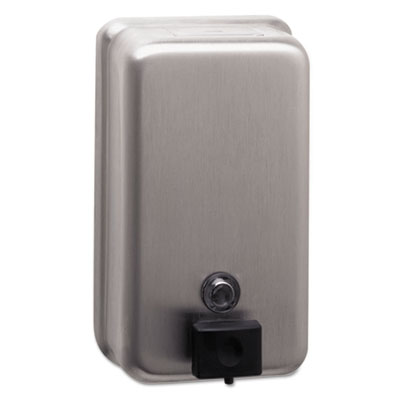 ClassicSeries Surface-Mounted Soap Dispenser, 40oz, Stainless Steel