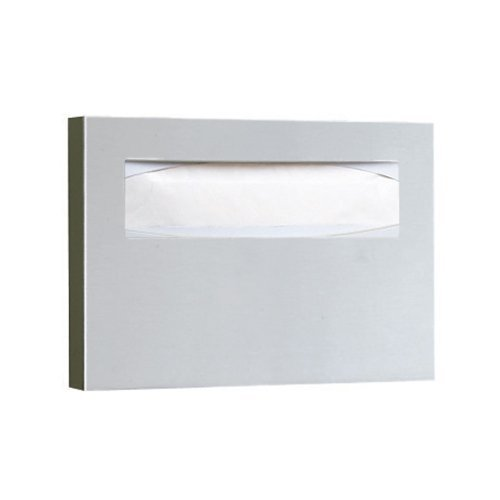 Satin Stainless Steel Toilet Seat-Cover Dispenser, Each