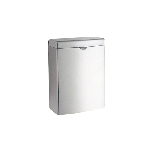 Contura Sanitary Napkin Receptacle, Rectangular, Stainless Steel, 1gal