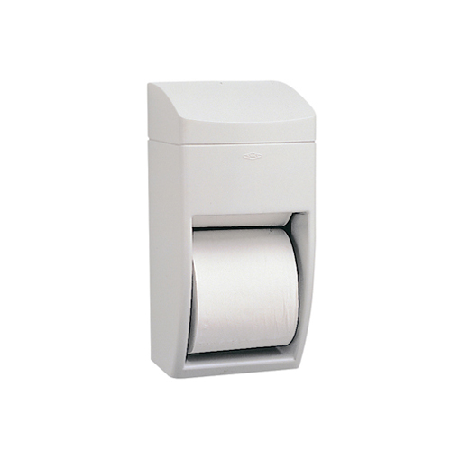 Matrix Series Two-Roll Tissue Dispenser, 6 1/4w x 6 7/8d x 13 1/2h, Gray