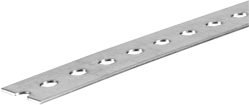 11140 1-3/8X4 FT. ZP SLOTTED FLAT
