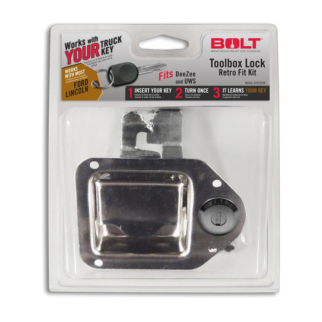 Bolt Toolbox Latch for Select Ford Vehicles