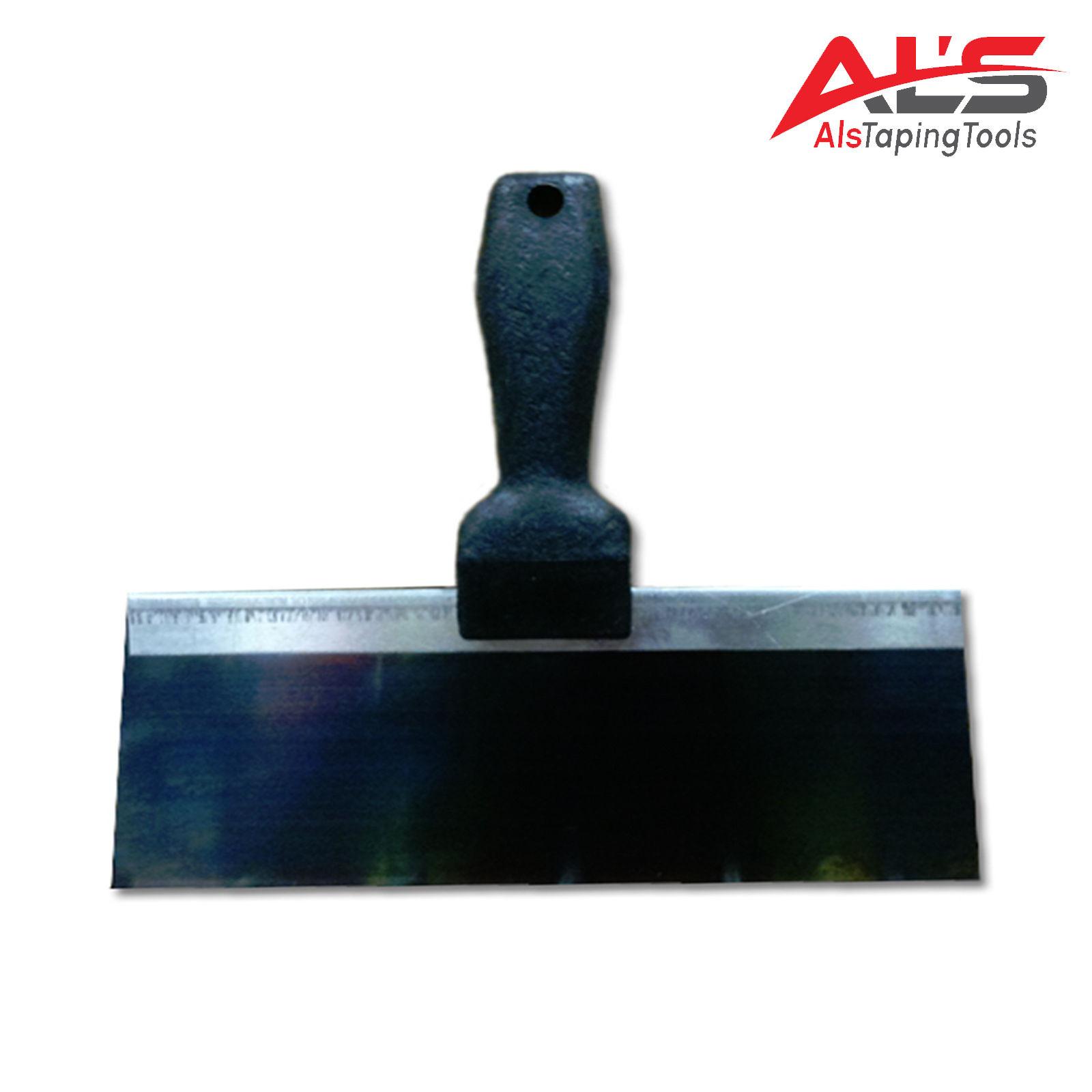 "BON 15-339 TAPING KNIFE - BLUE STEEL 8"" x 3"" - COMFORT GRIP HANDLE"