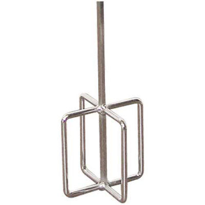 "EGG BEATER MIXER - PLATED 5"" DIAMETER - 30"" HEX  SHAFT"