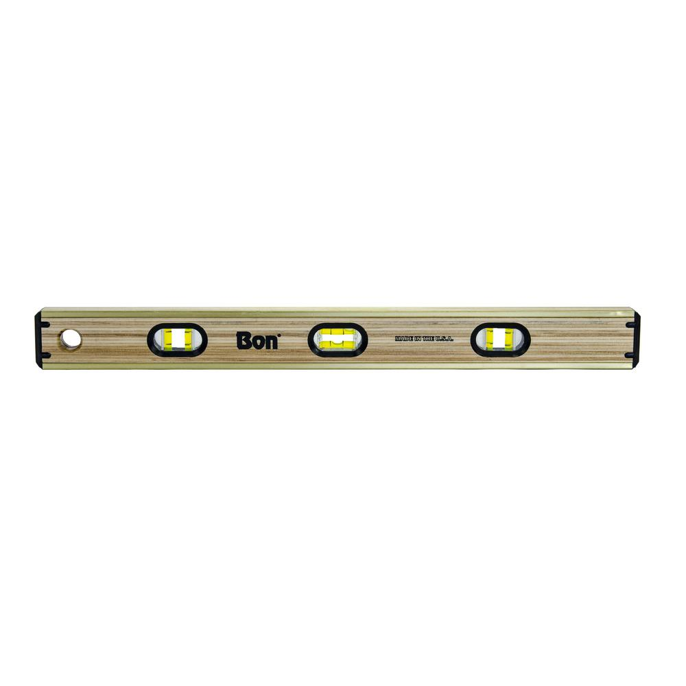 BON 21-390 LAMINATED BRASS BOUND LEVEL BON 24""