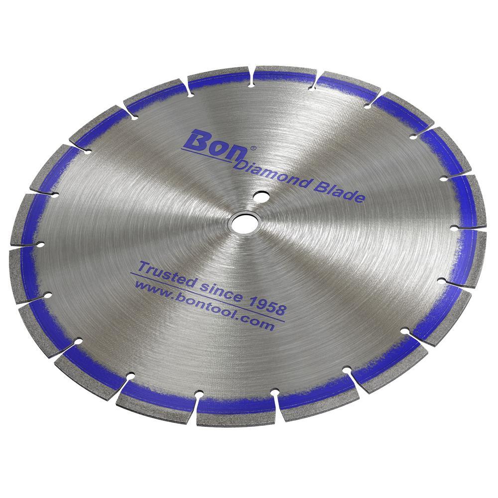 "BON 21-611 DIAMOND BLADE 14"" x .110""; ARBOR 1""- 20mm DP"
