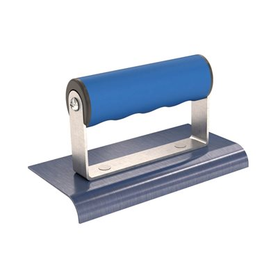 "BLUE STEEL EDGER - 6"" x 3"" - 1/2"" RADIUS 5/8"" DEPTH COMFORT GRIP HANDLE"