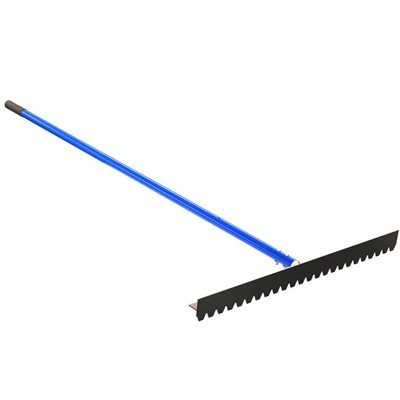 """BLUNT TOOTH T-CONNECTOR LUTE RAKE - 36"""" WITH 6' HANDLE"""