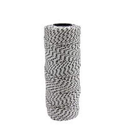 BONDED BRAIDED NYLON FLECKED LINE - 500' WHITE/BLACK FLECKS