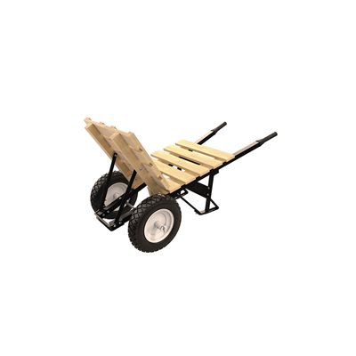 BRICK & TILE BARROW - DOUBLE FLATFREE TIRE STEEL HANDLE