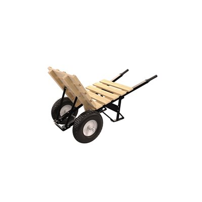 BRICK & TILE BARROW - DOUBLE KNOBBY TIRE STEEL HANDLE
