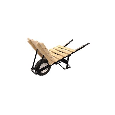 BRICK & TILE BARROW - SINGLE FLATFREE TIRE STEEL HANDLE