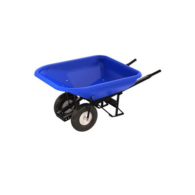 POLY TRAY BARROW - 10 CU FT TRAY - DOUBLE KNOBBY TIRE STEEL HANDLE