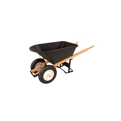 POLY TRAY BARROW - 5 3/4 CU FT - DOUBLE RIBBED TIRE WOOD HANDLE