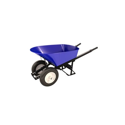 STEEL TRAY WHEEL BARROW - 6 CU FT - DOUBLE RIBBED TIRE STEEL HANDLE