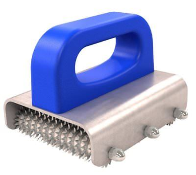 CARPET SEAM ROLLER - TRIPLE STAR WHEEL  - PLASTIC HANDLE