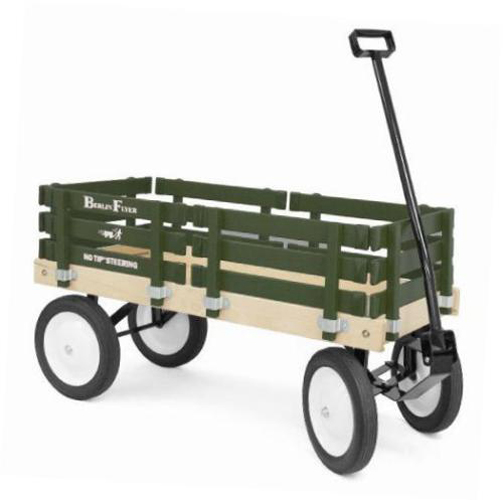 BON 74-843 FLYER WAGON - AMISH-MADE - GREEN