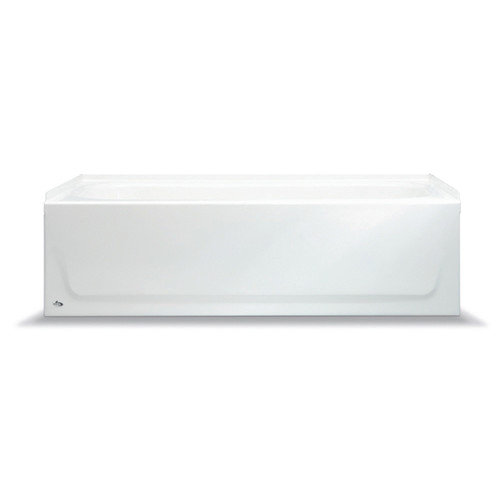 5Ft. Bootzcast Porcelain On Steel Bathtub, Left-Hand Outlet, White