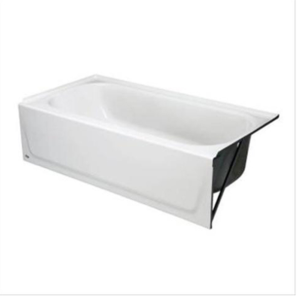STEEL BATHTUB WITH RIGHT-HAND DRAIN, WHITE, 30 IN. X 60 IN. X 14 1/4 IN.
