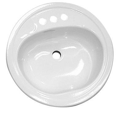 BATHROOM SINK DROP IN STEEL 20 IN. X 17 IN. OVAL BONE