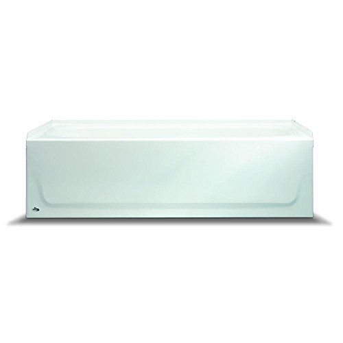 BOOTZ INDUSTRIES� STEEL BATHTUB WITH RIGHT-HAND DRAIN AND ABOVE-FLOOR ROUGH, 60 IN., WHITE