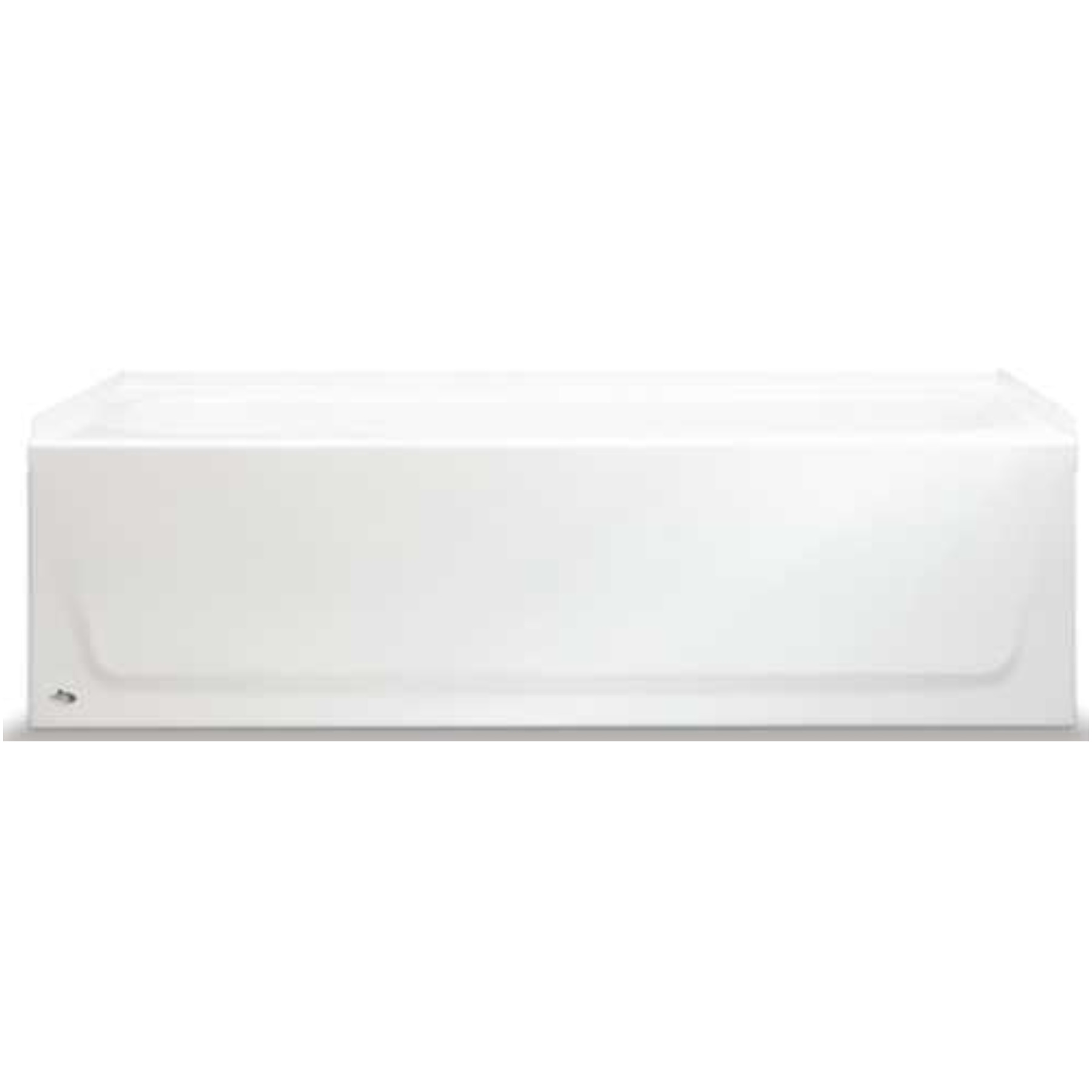 BOOTZ INDUSTRIES� STEEL BATHTUB WITH LEFT-HAND DRAIN AND ABOVE-FLOOR ROUGH, 60 IN., WHITE