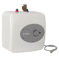 Bosch Glass Lined Electric Water Heater, 1440 W, 120 VAC, 12.5 A, 3.85 gal Tank, White