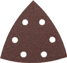 BOSCH DETAIL SANDER ABRASIVE TRIANGLES FOR WOOD, 120 GRIT, 3-3/4 IN., 5 PACK