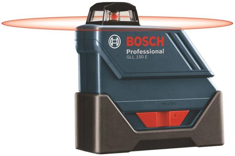 Bosch GLL150ECK Self-Leveling Laser Level, 3/16 in at 100 ft, 500 ft, AA Battery, Plastic