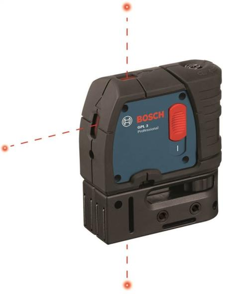 Bosch GPL3 Multi-Purpose Laser Level, Up to +/- 1/4 in at 100 ft, 100 ft, Battery, Black