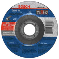 Rapido TCW27S450 Depressed Center Thin Type 27A Cutting Wheel, 4-1/2 in Dia x 0.04 in T, 60 Grit, 7/8 in Arbor