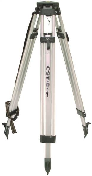 CST 60-ALQCI20 Flat Heavy Duty Level Tripod With Quick Release, 5/8-11, 38 in Closed, 63 in Open